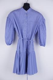 Garde-robe - Kort Kleedje - Wit-blauw