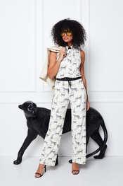 K-design - Blouse - Zwart-wit