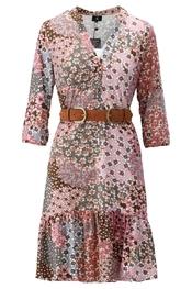 K-design - Halflang Kleedje - Grijs-roze