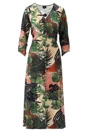 K-design - Lang kleed - Groen-roze