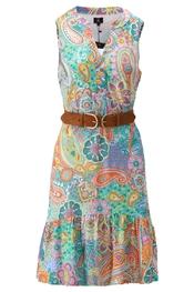 K-design - Halflang Kleedje - Blauw-roze