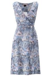 K-design - Halflang Kleedje - Wit-blauw