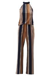 K-design - Jumpsuit - Blauw-bruin