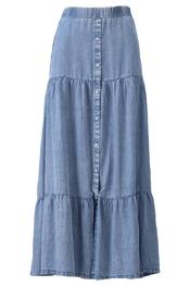 K-design - Lange Rok - Jeans licht