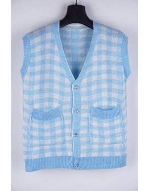 Garde-robe - Debardeur - Wit-blauw