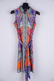 K-design - Kort Kleedje - Blauw-oranje