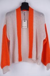 Amelie-amelie - Gilet - Beige-oranje