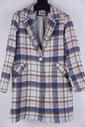 Garde-robe - Mantel - Blauw-beige