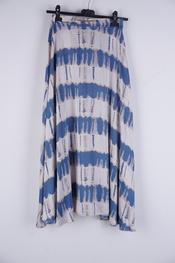 Garde-robe - Lange Rok - Blauw-beige