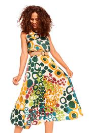 Caroline Biss - Lang kleed - Groen-geel