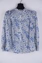 Garde-robe - Blouse - Wit-blauw