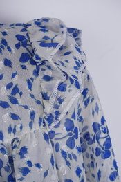 Garde-robe - Blouse - Wit-blauw