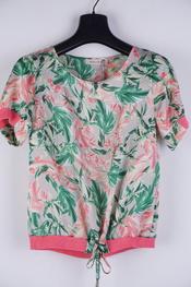 Amelie-amelie - Top - Groen-roze