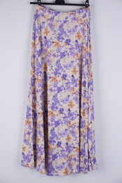 Garde-robe - Lange Rok - Beige-paars
