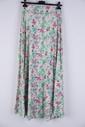 Garde-robe - Lange Rok - Groen-roze