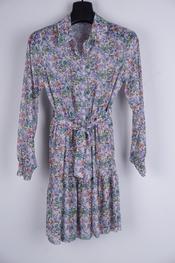 Garde-robe - Halflang Kleedje - Groen-paars