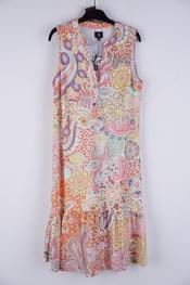 K-design - Halflang Kleedje - Geel-roze