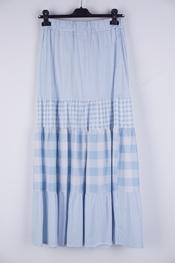 Garde-robe - Lange Rok - Wit-blauw