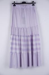 Garde-robe - Lange Rok - Wit-paars
