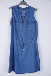Amelie-amelie - Kort Kleedje - Jeans licht