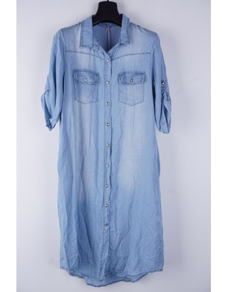 Garde-robe - Lang kleed - Jeans licht