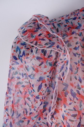 Garde-robe - Kort Kleedje - Blauw-roze