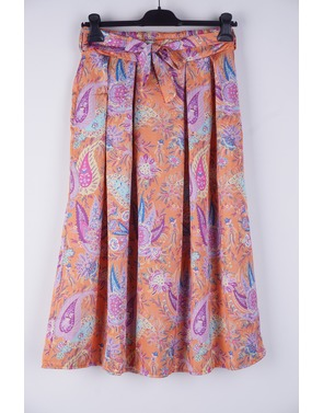 Garde-robe - Halflange Rok - Oranje-paars