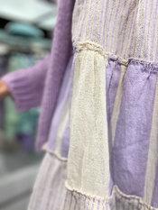 Garde-robe - Kort Kleedje - Beige-paars