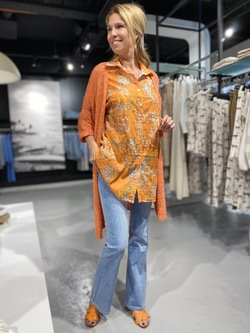 Orange with a touch of beige - 11