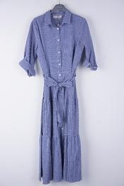 Amelie-amelie - Lang kleed - Wit-blauw