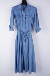 Garde-robe - Lang kleed - Jeans licht