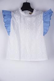 Garde-robe - Top - Wit-blauw
