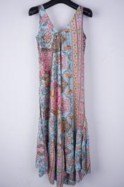 Garde-robe - Lang kleed - Blauw-roze