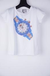 Garde-robe - T-shirt - Wit-blauw