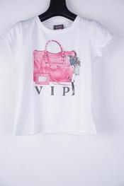 Garde-robe - T-shirt - Wit-roze