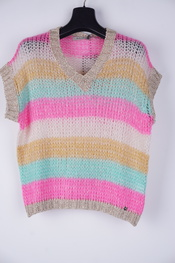 Amelie-amelie - Pull - Roze-beige