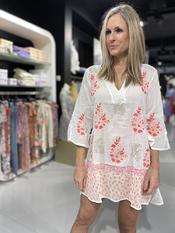 Garde-robe - Tuniek - Wit-roze