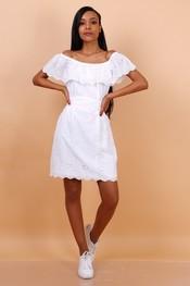 Garde-robe - Halflang Kleedje - Wit