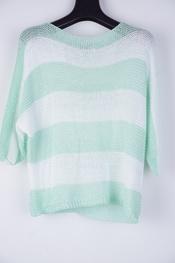 Garde-robe - Pull - Wit-groen