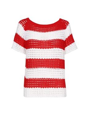 Caroline Biss - Pull - Wit-rood