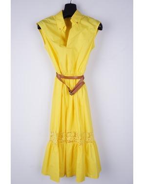 Amelie-amelie - Lang kleed - Geel