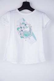 Garde-robe - T-shirt - Wit-groen