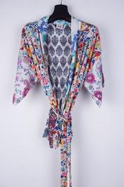 Garde-robe - Gilet - Wit-blauw