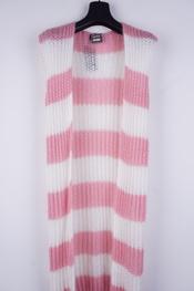 Garde-robe - Gilet - Wit-roze