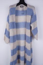 Garde-robe - Gilet - Blauw-beige