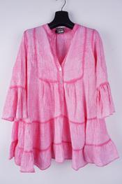 Garde-robe - Halflang Kleedje - Roze