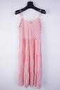 Garde-robe - Lang kleed - Wit-roze