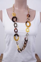 Garde-robe - Halsketting - Zwart-goud