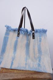 Garde-robe - Handtassen - Blauw-beige
