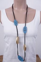 Garde-robe - Halsketting - Zwart-blauw